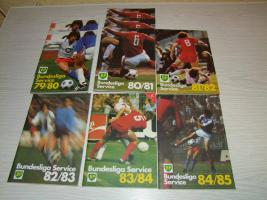 Bundesliga Service BP Hefte aus Ende 70 Anfang 80