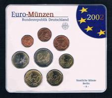 Bundesrepublik Deutschland Offizieller Amtlicher Euro Kursmünzensatz 2002 Prägebuchstaben A / D / F / G / J Prägefrisch .