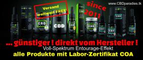 CANNABIS CBD Produkte zum Fabrikpreis Öle E-Liquid, Salben u.v.m.