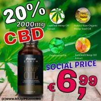 CBD Cannabis ÖL 10% 2000mg 10ml nur 7€ Social Sale Preis