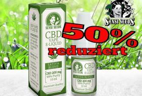 CBD Cannabis  E-LIQUID 50% reduziert