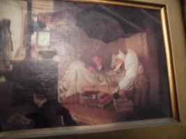 Foto 4 C. SPITZWEG (1808-1885), großes Bild, antik; ''nur Bild'': 15x11 cm, mit Rahmen:  29,5x25,5 cm