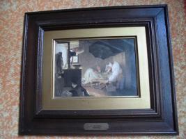 Foto 10 C. SPITZWEG (1808-1885), großes Bild, antik; ''nur Bild'': 15x11 cm, mit Rahmen:  29,5x25,5 cm