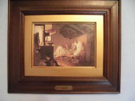Foto 11 C. SPITZWEG (1808-1885), großes Bild, antik; ''nur Bild'': 15x11 cm, mit Rahmen:  29,5x25,5 cm