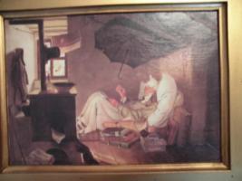 Foto 12 C. SPITZWEG (1808-1885), großes Bild, antik; ''nur Bild'': 15x11 cm, mit Rahmen:  29,5x25,5 cm