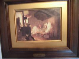 Foto 13 C. SPITZWEG (1808-1885), großes Bild, antik; ''nur Bild'': 15x11 cm, mit Rahmen:  29,5x25,5 cm