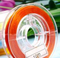 Ca. 10 Meter Schmuckelasticfaden Orange, 0,2 mm