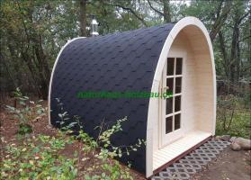 Foto 5 Campingpod, Campingfass, XXL Campingfass, Schlaffass, Saunapod, Fasssauna, Saunafass