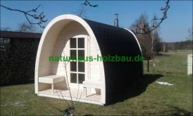 Foto 6 Campingpod, Campingfass, XXL Campingfass, Schlaffass, Saunapod, Fasssauna, Saunafass