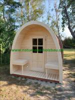 Foto 8 Campingpod, Campingfass, XXL Campingfass, Schlaffass, Saunapod, Fasssauna, Saunafass