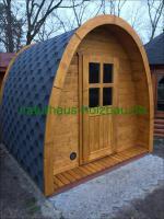 Foto 11 Campingpod, Campingfass, XXL Campingfass, Schlaffass, Saunapod, Fasssauna, Saunafass