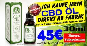 Cannabis CBD Öl Maxi 30ml nur 45€ günstiger direkt ab Fabrik kein MLM