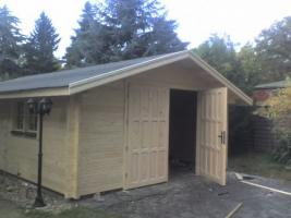 Carport, Garagen, Holzgaragen, Blockbohlengaragen, Carport, Garage, Garagenbau