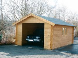 Foto 4 Carport, Garagen, Holzgaragen, Blockbohlengaragen, Carport, Garage, Garagenbau