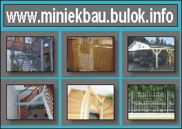 Carport, Holztreppen aus Polen, MINIEKBAU