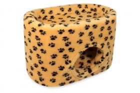 CatBed® Katzenhöhle Lüni Style Plus 70x45x47cm braun mit Tatzen