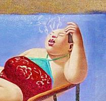 Foto 2 China Malerei Surrealismus  Ölgemälde