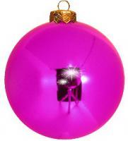 Magenta Weihnachtskugeln Pink glänzend