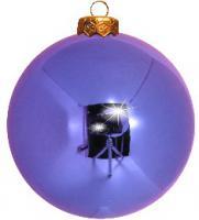 Weihnachtskugeln lila glänzend