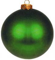 Weihnachtskugeln grün matt