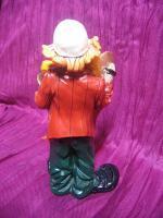 Foto 2 Clown mit Becken, Kunstguss von Claudio Vivian