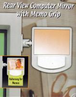 Computer-Rückspiegel mit Memo-Halterung