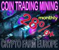 Crypto Farm Europe Coin-Trading-Mining 28%+ monthly