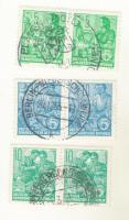 DDR 3Paare Briefmarken