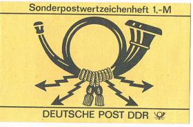 DDR Sonderpostwertzeichenheft 1, - M ! !