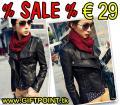 Damen Jacke Leder style schwarz 2003102 nur € 29