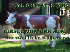 Deine Gattin möchte ne Deko Kuh gern im Garten haben… ja warum net eine Liesel von der Alm oder vielleicht doch …
