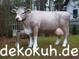Foto 2 Deko Kuh lebensgross mit Deko Kalb ...