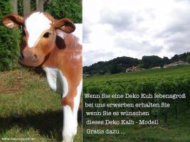 Foto 2 Deko Kuh lebensgroß und Deko Kalb … oder ein Deko Pferd … www.dekomitpfiff.de