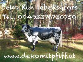 Deko Kuh lebensgross Pustertaler Art ...