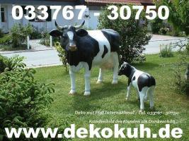 Deko Kuh lebensgross inkl. Deko Kälbchen ... www.dekomitpfiff.de oder Tel. 033767 - 30750