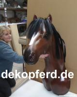 Deko Pferd Kopf lebensgross für Deinen Horsesalon als wand Deko ...