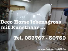 Deko Pferd / Horse lebensgross für Ihren Garten ....
