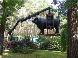 Deko Ziege oder Deko Kuh