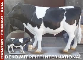 Foto 3 Deko holstein bullen und Kuh lebensgross haste beide noch nicht als deko …?