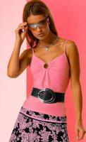 Dekolleté-Shirt, pink