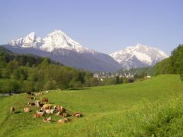 Der Watzmann mit Blick auf Berchtesgaden