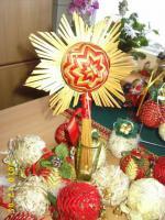 Der individuelle einmalige Christbaumschmuck jede Kugel handgearbeitet