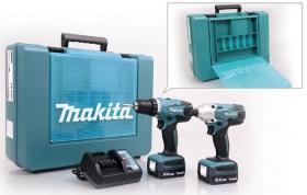 Foto 2 Details zu  Makita 14,4V Akku-Bohrschrauber DK1497 Akkuschrauber Schrauber Zubehör Set