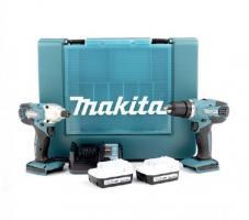 Foto 3 Details zu  Makita 14,4V Akku-Bohrschrauber DK1497 Akkuschrauber Schrauber Zubehör Set
