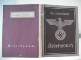 Deutsches Reich Arbeitsbuch ( Hauptamt Leipzig )