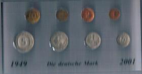 Deutschland DM Kursmünzensatz in '' Acryl '' Gegossen !