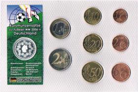 Foto 2 Deutschland Euro Kursmünzensatz zur Fußball '' WM 2006 '' !
