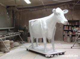 Die neue Deko Holstein Kuh lebensgross gibt es auch Logokuh ...