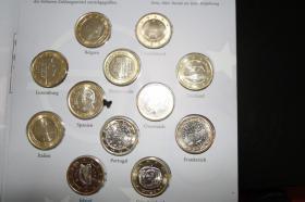 Foto 3 Die ' Ersten ' 1 EUR Kursmünzen aus 12 Ländern
