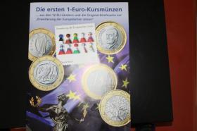 Die '' Ersten '' 1 EUR Kursmünzen aus 12 Ländern
